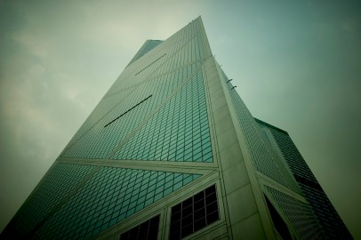 La tour de Bank of China. Central, Ile de Hong Kong
